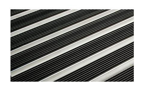 Решетка алюминиевая с резиновым покрытием  для поддона ACO Vario 75х50 см