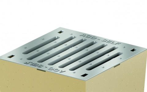 Решетка из оцинкованной стали с прорезями для дождеприемника ACO SELF