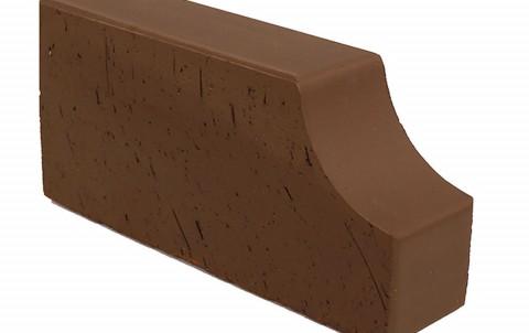 Фигурный кирпич LODE Brunis F 13 250x120x65 коричневый