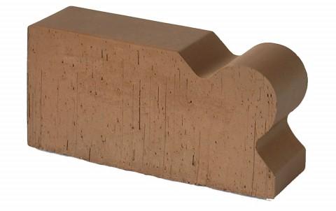 Фигурный кирпич LODE Brunis F 20 250x120x65 коричневый