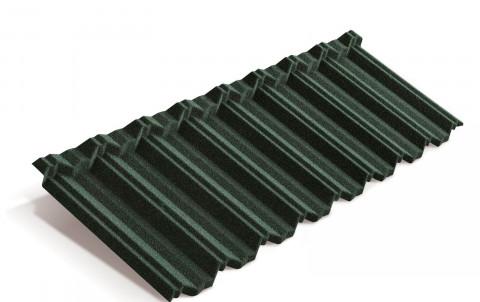 Композитная черепица Metrotile MetroClassic, тёмно-зелёный