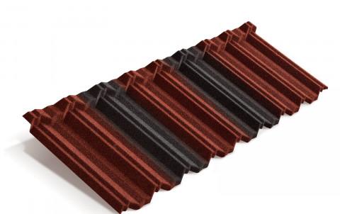 Композитная черепица Metrotile MetroClassic, красно-черный