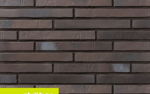 фасадная клинкерная плитка STROEHER Glanzstueck N 1, размер 440x52x14