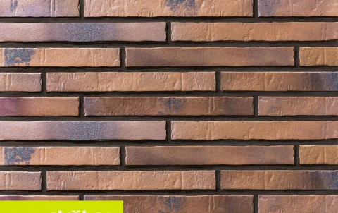 фасадная клинкерная плитка STROEHER Glanzstueck N 5, размер 440x52x14