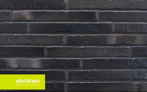 фасадная клинкерная плитка STROEHER Glanzstueck N 6, размер 440x52x14