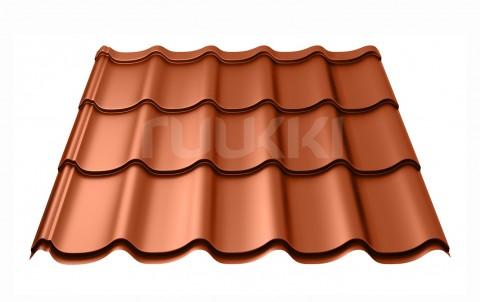 металлочерепица ruukki Monterrey Standart с покрытием Polyester Matt, цвет rr750
