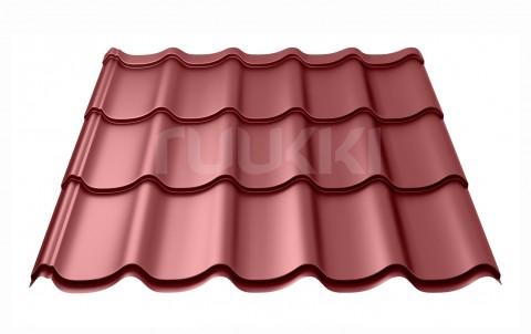 металлочерепица ruukki Monterrey Standart с покрытием Polyester Matt, цвет rr29