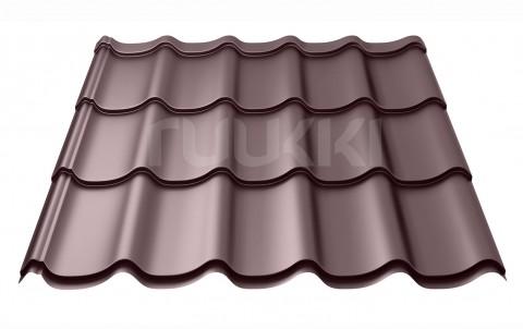 металлочерепица ruukki Monterrey Standart с покрытием Polyester Matt, цвет rr32