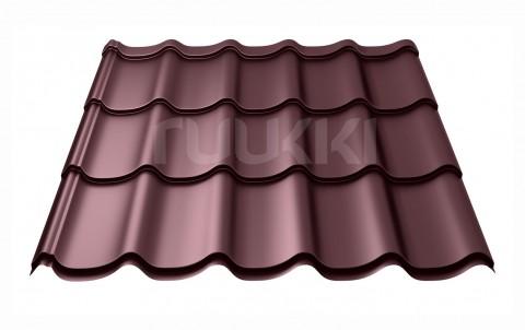 металлочерепица ruukki Monterrey Standart с покрытием Polyester, цвет rr887