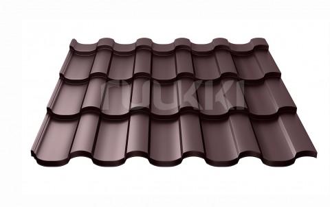металлочерепица ruukki Adamante с покрытием Polyester, цвет rr32