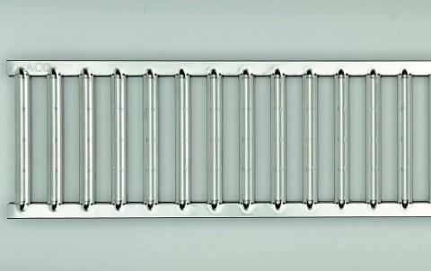 Решетка электрополированная из нержавеющей стали для каналов ACO SELF 1 м