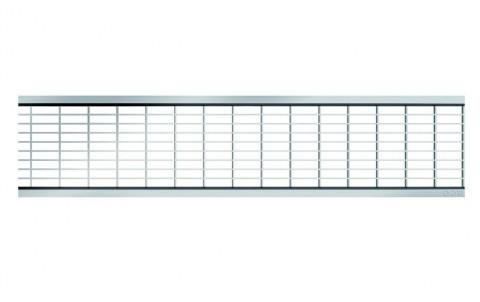 Решетка из оцинкованный стали- ячеистая 30х10мм для каналов ACO SELF 1м