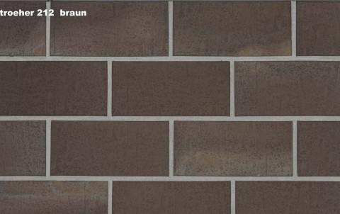 Тротуарная плитка STROEHER SPALTKLINKER, 240x52, dark braun