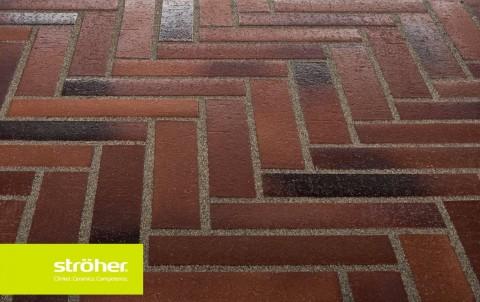 Тротуарная плитка STROEHER SPALTKLINKER, 240x115, цвет 124 темно-коричневый