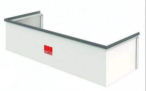 Надставка из пластика  для светового приямка  размером 80х60х40, нагрузка: пешеходная