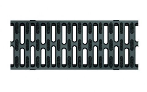 Решетка из пластика с противоскользящим покрытием для каналов ACO SELF 1 м