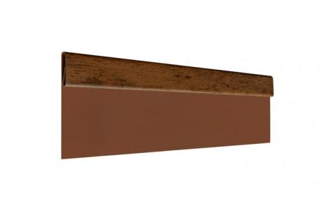 Финишная планка L=2 м.п., покрытие Printech Naive Maroon, цвет темное дерево