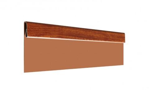 Финишная планка L=2 м.п., покрытие Printech Naive, цвет красное дерево