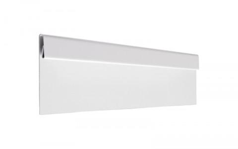 Финишная планка, алюминий, L=2 м.п., покрытие PE, цвет RAL9010