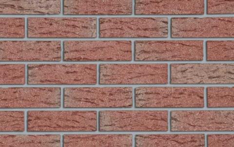 Клинкерный кирпич Roben Victoria красный с оттенком, NF, 240x115x71, рифленый