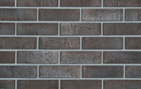 Клинкерный кирпич Roben Sydney антрацитовый, NF, 240x115x71, рифленый