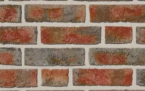 Фасадная плитка ручной формовки ROBEN Formback buntgeflammt, NF рядовая