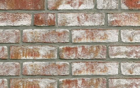 Фасадная плитка ручной формовки ROBEN Geestbrand bunt weib, NF рядовая
