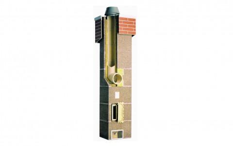 Комплект Schiedel UNI одноходовый без вентиляции d=16 (4 пог.м)