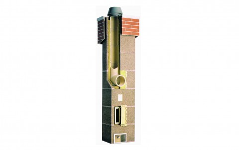 Комплект Schiedel UNI одноходовый с вентиляцией d=25L (7 пог.м)