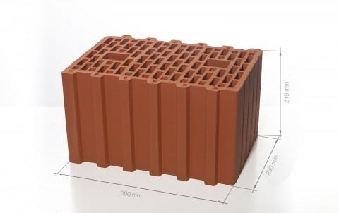 Поризованный керамический блок 38 BRAER Ceramic Thermo 10,7 NF M100