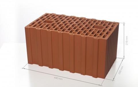 Поризованный керамический блок 44 BRAER Ceramic Thermo 12,4 NF М100
