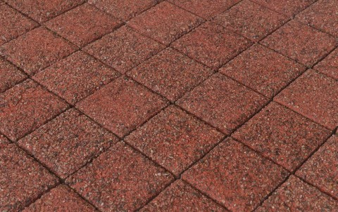 Тротуарная плитка BRAER Лувр, Гранит красный, h= 60