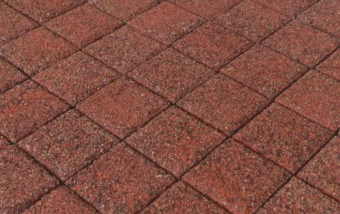 Тротуарная плитка BRAER Лувр, Гранит красный, h= 60  (тестовая партия)