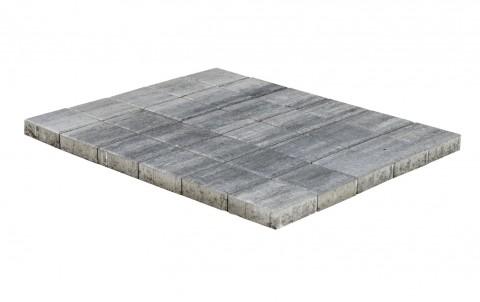 Тротуарная плитка BRAER Лувр, туман, h= 60