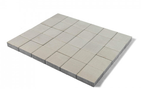 Тротуарная плитка BRAER Лувр, белый, h= 60, 200х200