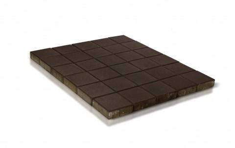 Тротуарная плитка BRAER Лувр, коричневый, h= 60