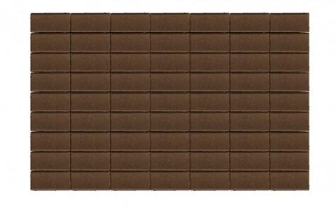 Тротуарная плитка BRAER Прямоугольник, коричневый, h= 40