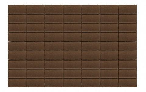 Тротуарная плитка BRAER Прямоугольник, коричневый, h= 60, 200x100