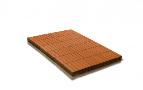 Тротуарная плитка BRAER Прямоугольник, оранжевый, h= 80 (тестовая партия)