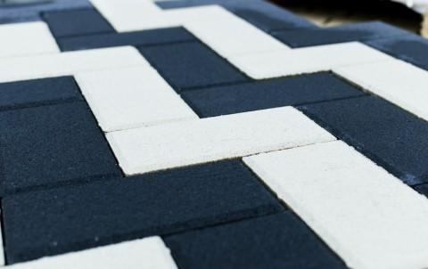 Тротуарная плитка BRAER Прямоугольник, белый, h= 80