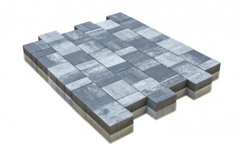 Тротуарная плитка BRAER Старый город Ландхаус, туман, h= 60