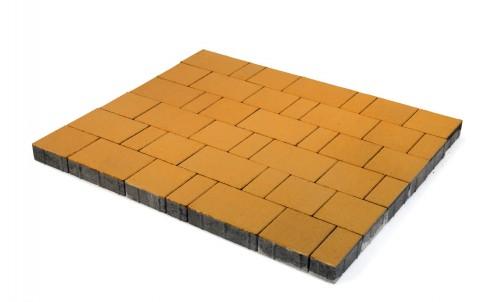 Тротуарная плитка BRAER Старый город Ландхаус, оранжевый, h= 60