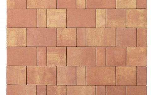 Тротуарная плитка BRAER Старый город Ландхаус, рассвет, h= 80