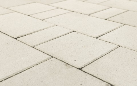 Тротуарная плитка BRAER Старый город Ландхаус, белый, h= 80