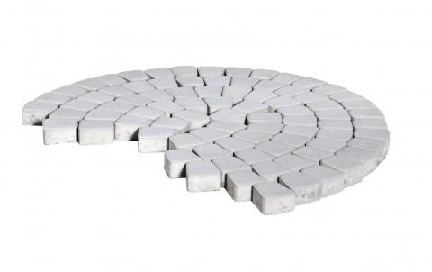 Тротуарная плитка BRAER Классико круговая, серебристый, h= 60