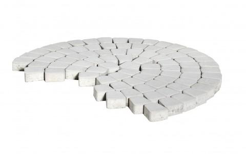 Тротуарная плитка BRAER Классико круговая, белый, h= 60