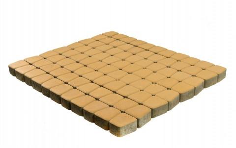 Тротуарная плитка BRAER Классико круговая, медовый, h= 60