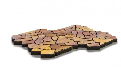 Тротуарная плитка BRAER Сан Тропе, каньон, h= 70