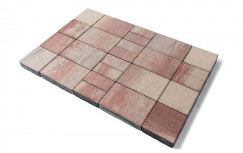 Тротуарная плитка BRAER Мозаика, фламинго, h= 60