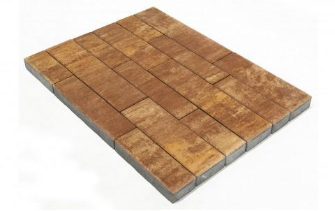 Тротуарная плитка BRAER Домино, каньон, h= 60